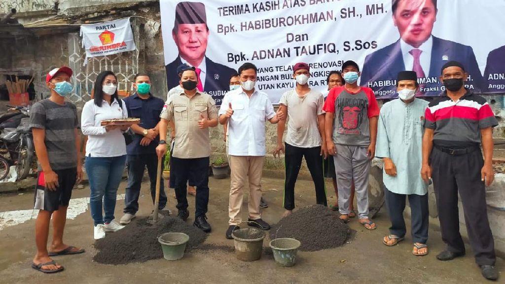 Kader Gerindra Bagikan Sembako & Resmikan Sarana Olahraga di Jaktim
