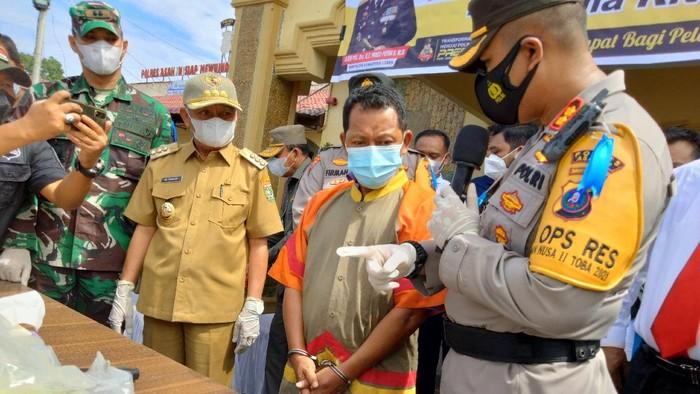 Konferensi pers kasus narkoba di Polres Asahan (Perdana-detikcom)