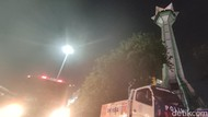 Viral Api Muncul di Menara Masjid Baiturrahman Semarang, Ini Faktanya