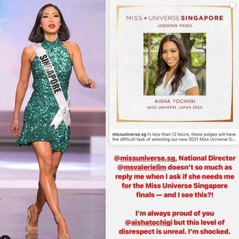 Miss Universe Singapore 2020 Bernadette Belle