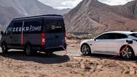Solusi Mobil Listrik Kehabisan Baterai, Ada Genset Berjalan