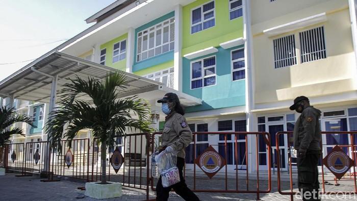 Shelter penanganan Covid-19 di Rusunawa Bener, Tegalrejo, Kota Yogyakarta, Yogyakarta, sempat terisi hingga 60 pasien. Kini jumlah pasien yang dirawat tinggal 6 orang.