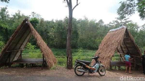 Untuk mencapai sungai Oya, pengunjung hanya perlu menuju rest area hutan Bunder. Sesampainya di rest area, pengunjung hanya perlu mengikuti jalan aspal yang berada di pinggir sungai Oya. (Pradito Rida Pertana/detikTravel)
