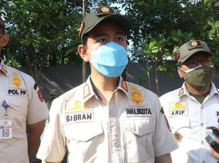 Walkot Solo Gibran Rakabuming Raka usai apel Satpol PP, Senin (20/9/2021).