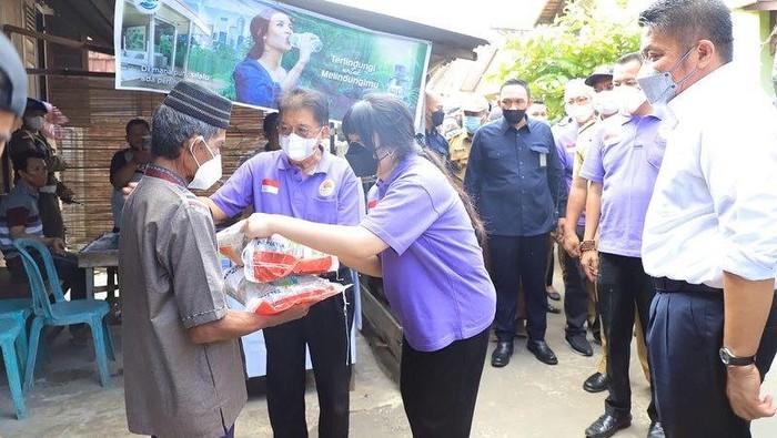 Bantuan beras 46,6 ton disalurkan ke 3 Kecamatan di Palembang. (Dok. Istimewa)