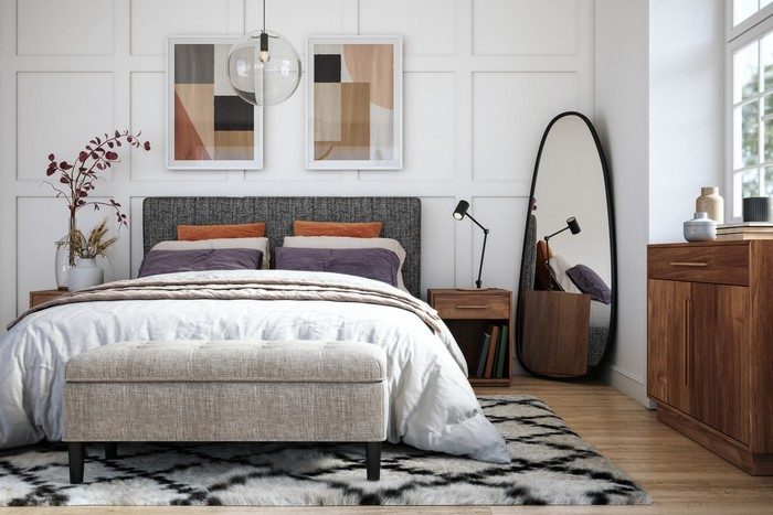 Desain lampu kamar tidur aesthetic dan minimalis. Foto: Dok. iStock