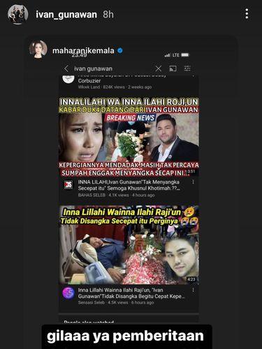 Berita hoax Ivan Gunawan meninggal dunia