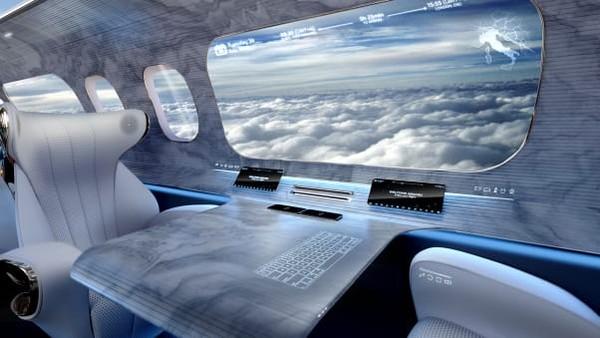Idenya adalah jendela virtual yang dapat menggambarkan dunia di luar pesawat melalui layar OLED. Jika pesawat terbang di atas pegunungan, misalnya, layar akan berkedip dengan informasi tentang destinasi itu.