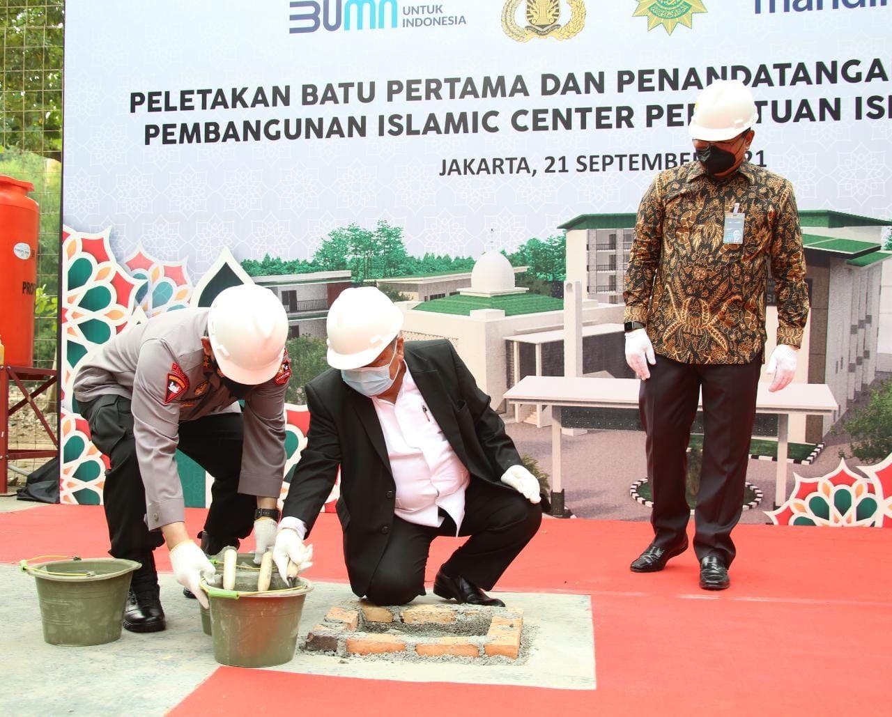 Kapolri Hadiri Peletakan Batu Pertama Islamic Center PERSIS