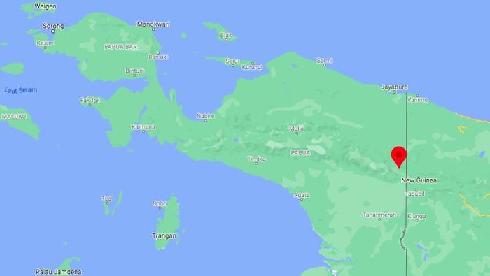 Ketegangan di Distrik Kiwirok, Kabupaten Pegunungan Bintang, Papua, belum reda. KKB terus berulah hingga nakes-prajurit TNI gugur (Screenshot Google Maps)