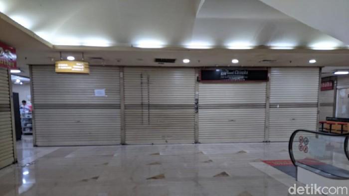 Kios ITC Kuningan tutup/Aulia Damayanti-detikcom