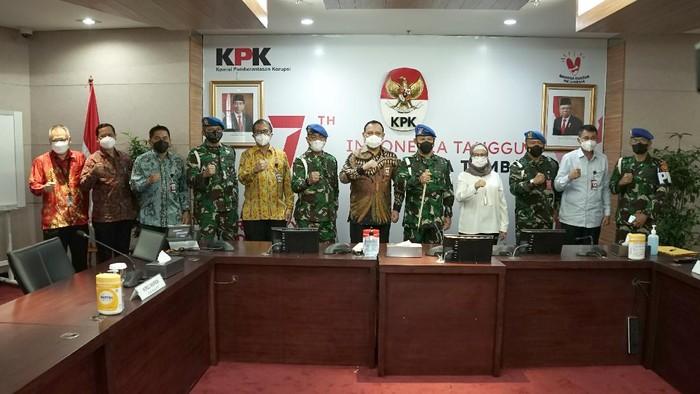 KPK bertemu Puspom TNI bahas kerja sama penyidikan kasus korupsi