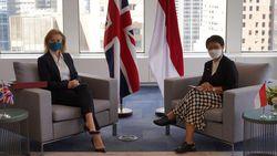 Retno Bahas Pemulihan Ekonomi Bareng Menlu Inggris & Presiden MU PBB