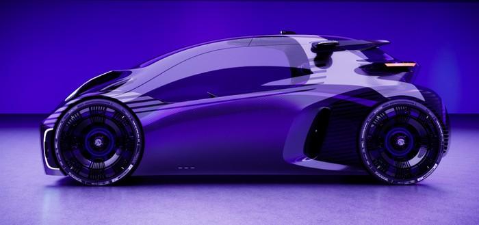 Desain mobil terinspirasi dari video game MG Maze Concept EV.