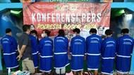 Bacok Pemotor, 7 Anggota Geng Sky Blue di Bogor Ditangkap