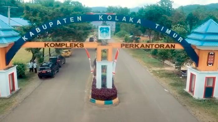 Kompleks perkantoran Pemkab Kolaka Timur (YouTube Diskominfo Koltim)