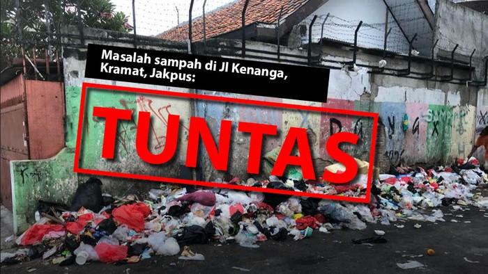 Masalah sampah di Jl Kenanga, Kramat, Jakpus: Tuntas. (Repro Tim Infografis detikcom)
