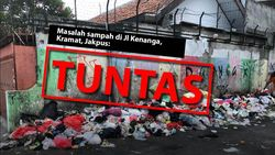 Before-after Pembersihan Sampah Jalanan Permukiman Kramat, Jakpus