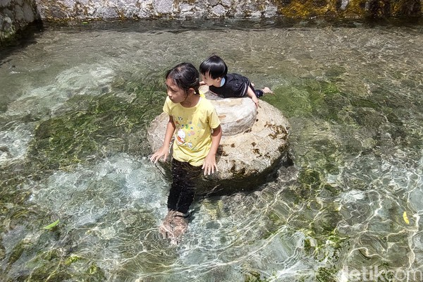 Mata air Campakabermuara ke Sungai Cijagra. (Wisma Putera/detikcom)
