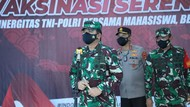 Panglima TNI Cek Vaksinasi di Lampung: Habiskan Vaksin yang Ada!