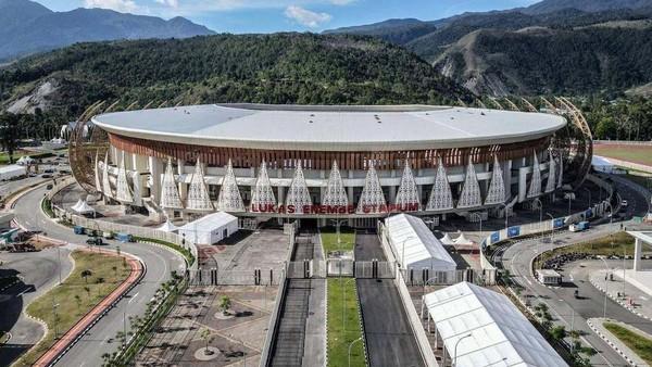 Ini dia venue utama pelaksanaan PON XX 2021, yaitu Stadion Lukas Enembe.