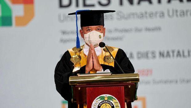 Rektor USU Dr Muryanto Amin