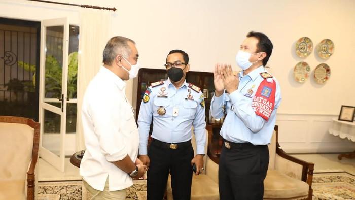 Wakil Ketua DPRD Sumut Harun Mustafa Nasution Bertemu Kakanwil Kemenkumham Sumut
