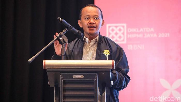 Menteri Investasi RI Bahlil Lahadalia menghadiri pembukaan Pendidikan dan Pelatihan Kader Organisasi Tingkat Daerah (Diklatda) HIPMI Jaya di Jakarta.