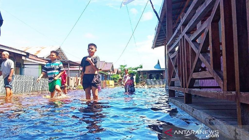 Banjir Landa Palangka Raya Kalteng, Seorang Balita Tewas Tenggelam
