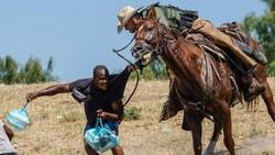 Foto-foto Mengerikan Petugas Patroli Halau Migran Haiti di Perbatasan AS