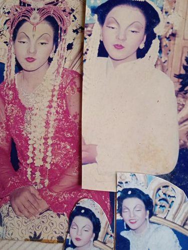 Foto Lusi Tursinah saaat menikah pada tahun 2004 yang viral di media sosial.
