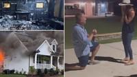 Viral Kisah Pria Lamar Kekasih saat Rumahnya Kebakaran
