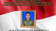 Pratu Ida Bagus Putu yang Gugur Ditembak KKB Papua Naik Pangkat Anumerta