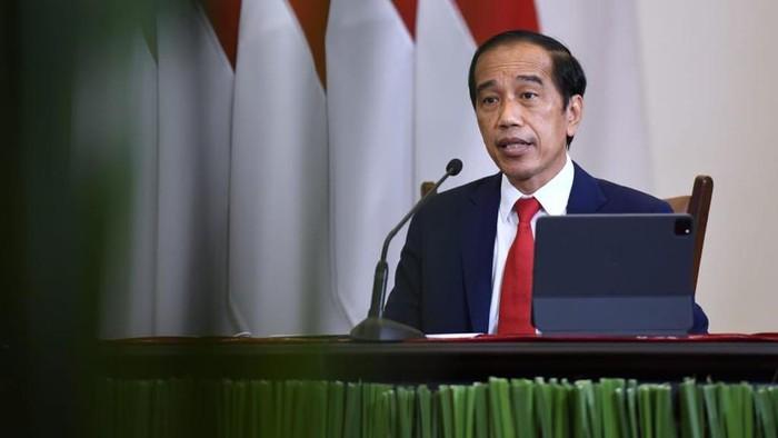Presiden Joko Widodo hadiri acara Global Covid-19 Summit yang digelar secara virtual, Rabu (22/9/2021).