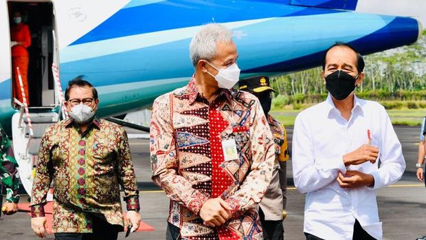 Presiden Jokowi dan Gubernur Jateng Ganjar Pranowo
