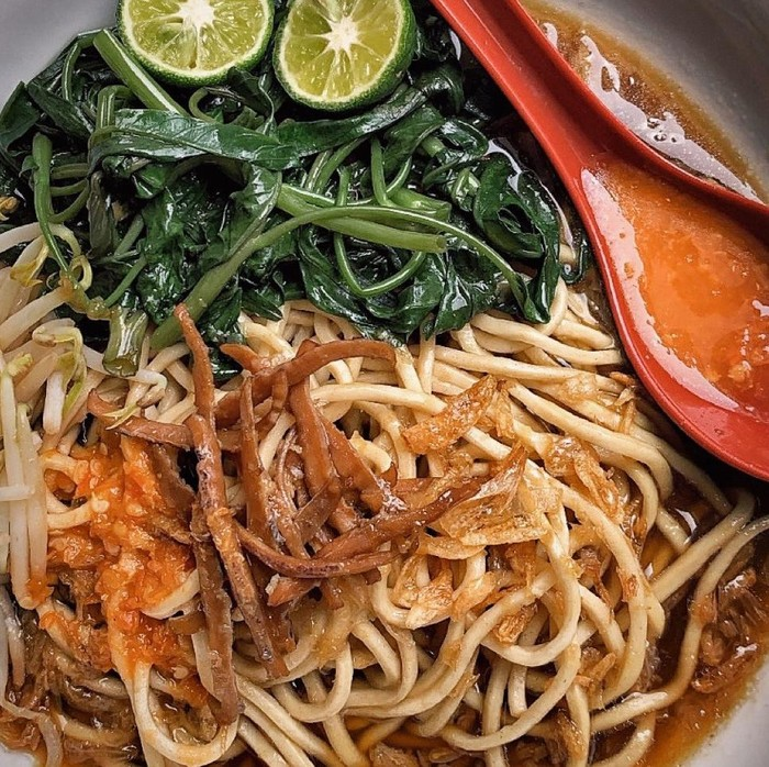 Resep Mie Kangkung Juhi