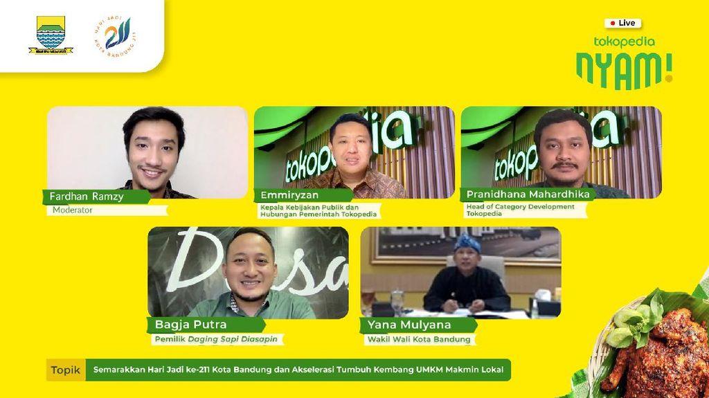 UMKM Kuliner di Tokopedia Naik 60%, Pemkot Bandung Dorong Digitalisasi