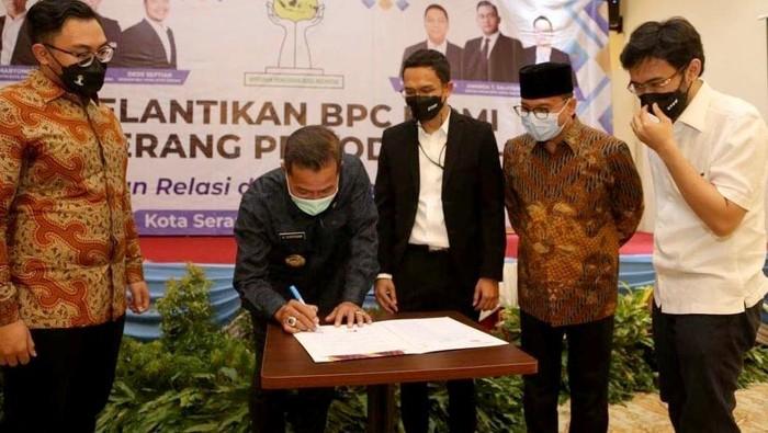 Usai dilantik, Badan Pengurus Cabang Himpunan Pengusaha Muda Indonesia (BPC HIPMI) Kota Serang siap memberikan gebrakan baru.