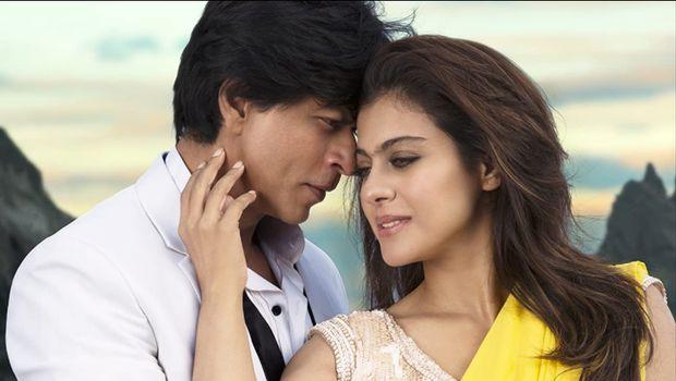 Aksi Kajol dan Shah Rukh Khan di film.