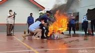 Lapas Ciamis Gelar Latihan Antisipasi Kebakaran