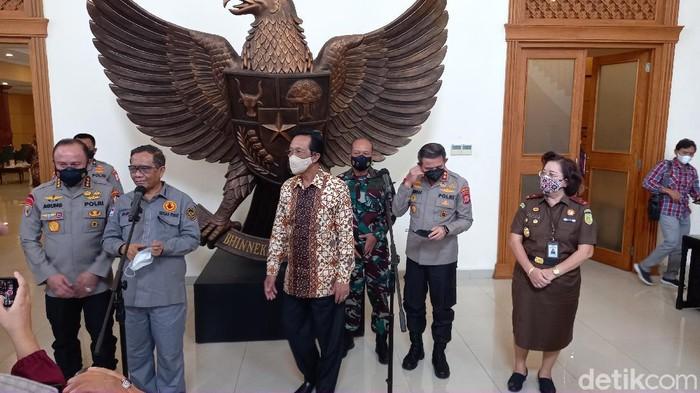 Menkopolhukam Mahfud Md di Kepatihan Yogyakakarta, Jumat (24/9/2021).