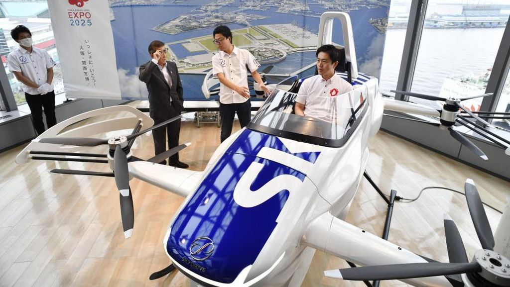 Canggihnya Taksi Terbang Jepang, Bakal Tawarkan Layanan di Pameran 2025