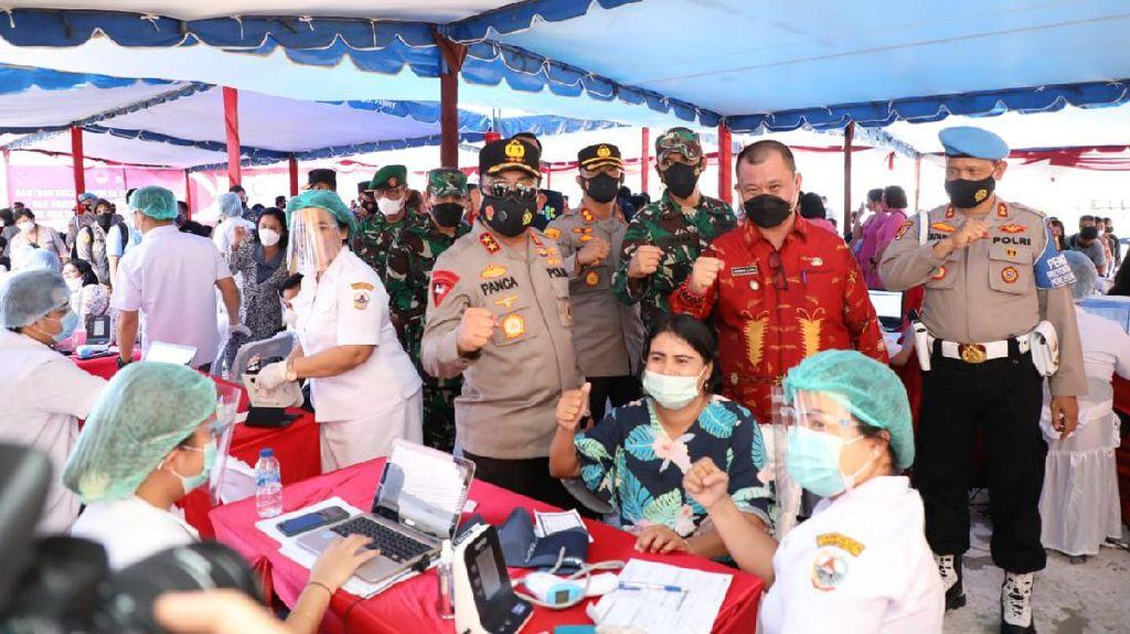Respons Arahan Jokowi, Polda Sumut Sebar 10 Ribu Dosis Vaksin Corona ke Nias