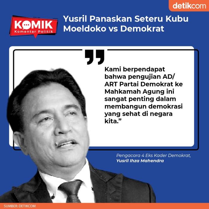 Yusril Panaskan Seteru Kubu Moeldoko vs Demokrat (detikcom)