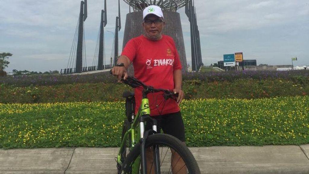 Ketua RW Gowes Rute Bandung-Sulawesi, Bawa Misi Apa?
