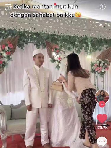 Kisah wanita yang datang ke nikahan mantan.