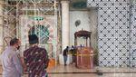 Penampakan Mimbar Masjid Raya Makassar yang Dibakar OTK