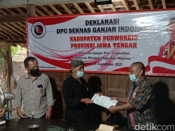 Pengurus DPC PDIP Purworejo dukung Ganjar Pranowo maju capres, Sabtu (25/9/2021).