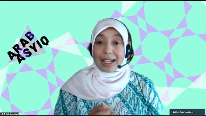Komika Sakdiyah Maruf di jumpa pers virtual LIFEs 2021