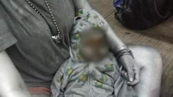 Geger di Tangsel Gegara Bayi Dilumuri Cat Jadi Manusia Silver
